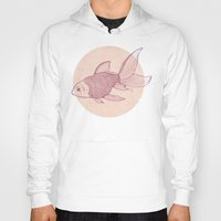 lonely Hoodies featuring Lonely Goldfish by Mike Koubou