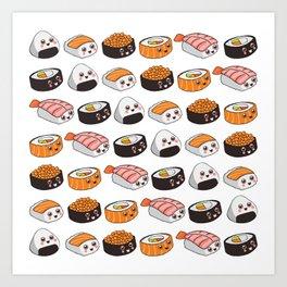 Sushi family Art Print