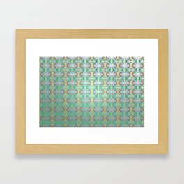 Softly colorful classic pattern ... Framed Art Print