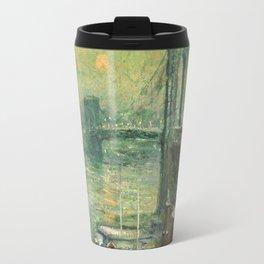 Ernest Lawson - Brooklyn Bridge Travel Mug