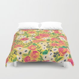 Minnie (Painted Flower Pattern) Duvet Cover