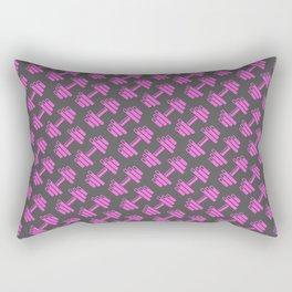 Dumbbellicious PINK GREY Rectangular Pillow