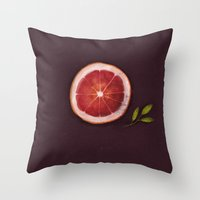 fruits Throw Pillows featuring Fruits by Oilikki