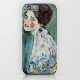 "Gustav Klimt ""Portrait of a lady"" iPhone Case"