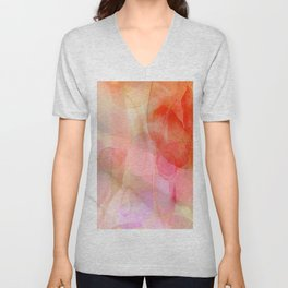 Fields of Wildflowers - red Unisex V-Neck