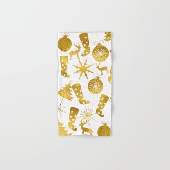 Gold Christmas 06 Hand & Bath Towel