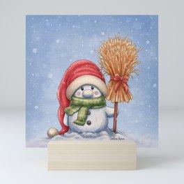 A little snowman Mini Art Print