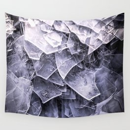 Cracked Ice Tiles In Lake Shore #decor #buyart #society6 Wall Tapestry
