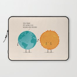 You make my world go round and round! Laptop Sleeve