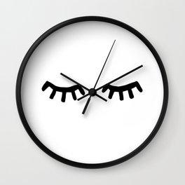Tired Eyes Wall Clock
