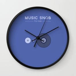 "NOT ""The New Vinyl"" — Music Snob Tip #082 Wall Clock"