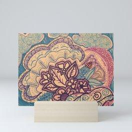 The Purple Flowers Show Mini Art Print