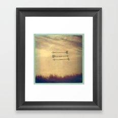 Wispy Way Framed Art Print