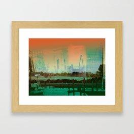 Memory Of A Town Framed Art Print