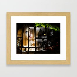 The Wolf at the Window Framed Art Print