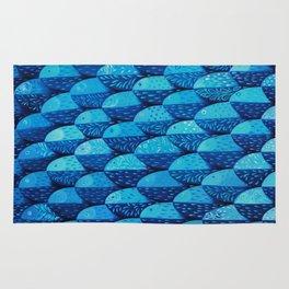 Fish 101 shades of blue Rug