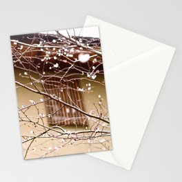 plum blossoms and house Stationery Cards