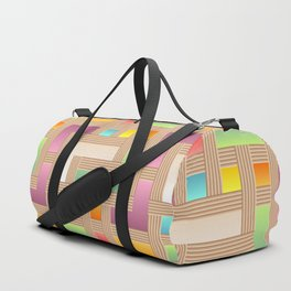 Abstract Colorful Labyrinth Duffle Bag