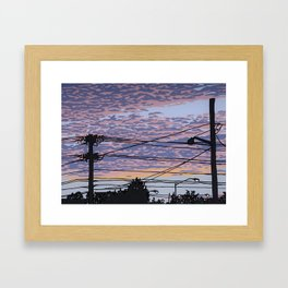 Telephone Poles at Sunset 1 Framed Art Print