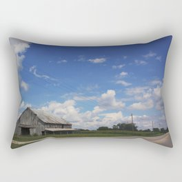 The farms are changing, Indiana farmland Rectangular Pillow