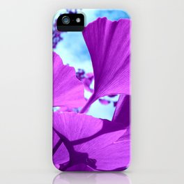 purple ginkgo tree VI iPhone Case
