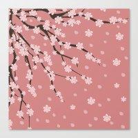 sakura Canvas Prints featuring Sakura by Julia Badeeva
