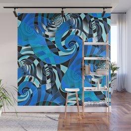 Interdimensional Whirl (blue) Wall Mural