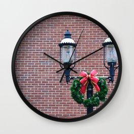Christmas Post Wall Clock