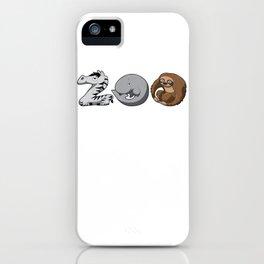 Zoo Keeper Zoologist Kids Animal Alphabet Gift iPhone Case