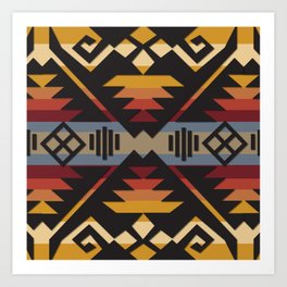 American Native Pattern No. 109 Art Print