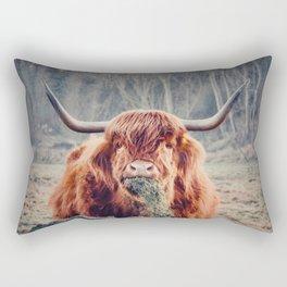 Highland cow my friend Rectangular Pillow