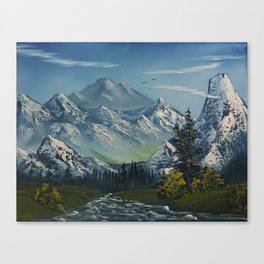 Mountains and more Mountains Canvas Print