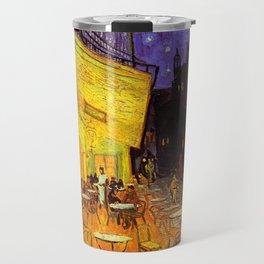 Vincent Van Gogh Cafe Terrace At Night Travel Mug