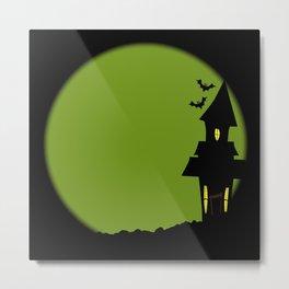 Halloween House Metal Print