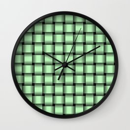 Small Light Green Weave Wall Clock