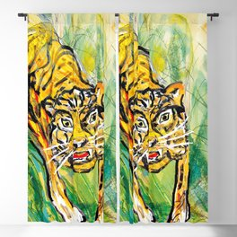 Tiger in th jungle Blackout Curtain