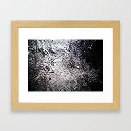 Black Lava III Framed Art Print