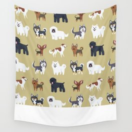 RUSSIAN DOGS Wall Tapestry