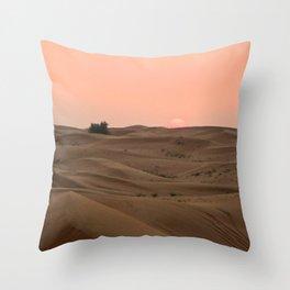 Arabian Desert Sunset Throw Pillow