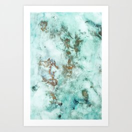 MARBLE - INKED INCEPTION - GOLD & ICE Art Print
