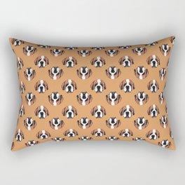 St. Benard in Orange Rectangular Pillow