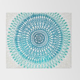 Radiate in Teal + Emerald Throw Blanket