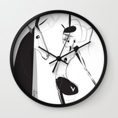 Lonely boy - Emilie Record Wall Clock