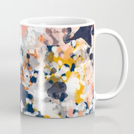 Stella - Abstract painting in modern fresh colors navy, orange, pink, cream, white, and gold Coffee Mug