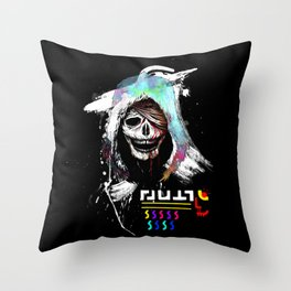 El Huervo - Death's Head Throw Pillow