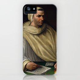 Baldassare Tommaso Peruzzi Portrait of an Olivetan Monk iPhone Case