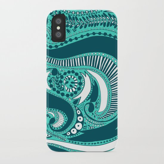 Majorie Blue iPhone Case