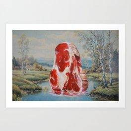 Meadow Meat Art Print