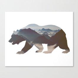 Wilderness Trough the  Bear Canvas Print