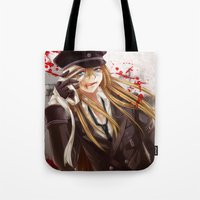 military Tote Bags featuring Military Guy by mao00mao & darkson